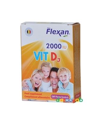 ویتامین د3 2000 فلکسان