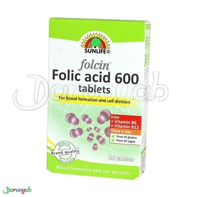 فولاسین فولیک اسید 600