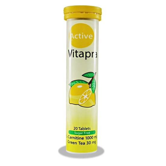 قرص جوشان ال کارنیتین و چای سبز ویتاپرا