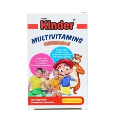 قرص مولتی ویتامین جویدنی فیشر کیندر