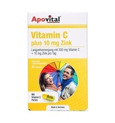 ویتامین C پلاس 10 میلی گرم زینک آپوویتال