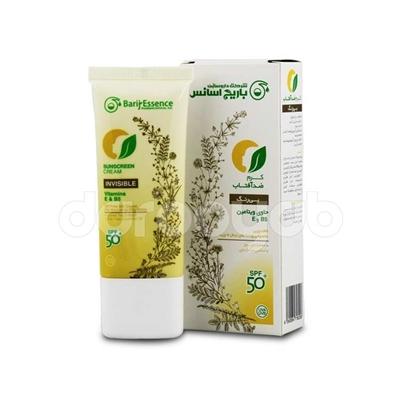 کرم ضد آفتاب بی رنگ SPF+50 (مخصوص پوست های نرمال تا چرب)