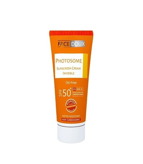 تصویر کرم ضد آفتاب  فوتوزوم فیس دوکس SPF50 بی رنگ فاقد چربی