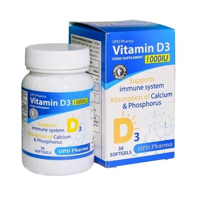 ویتامین د3 1000 واحد او پی دی فارما